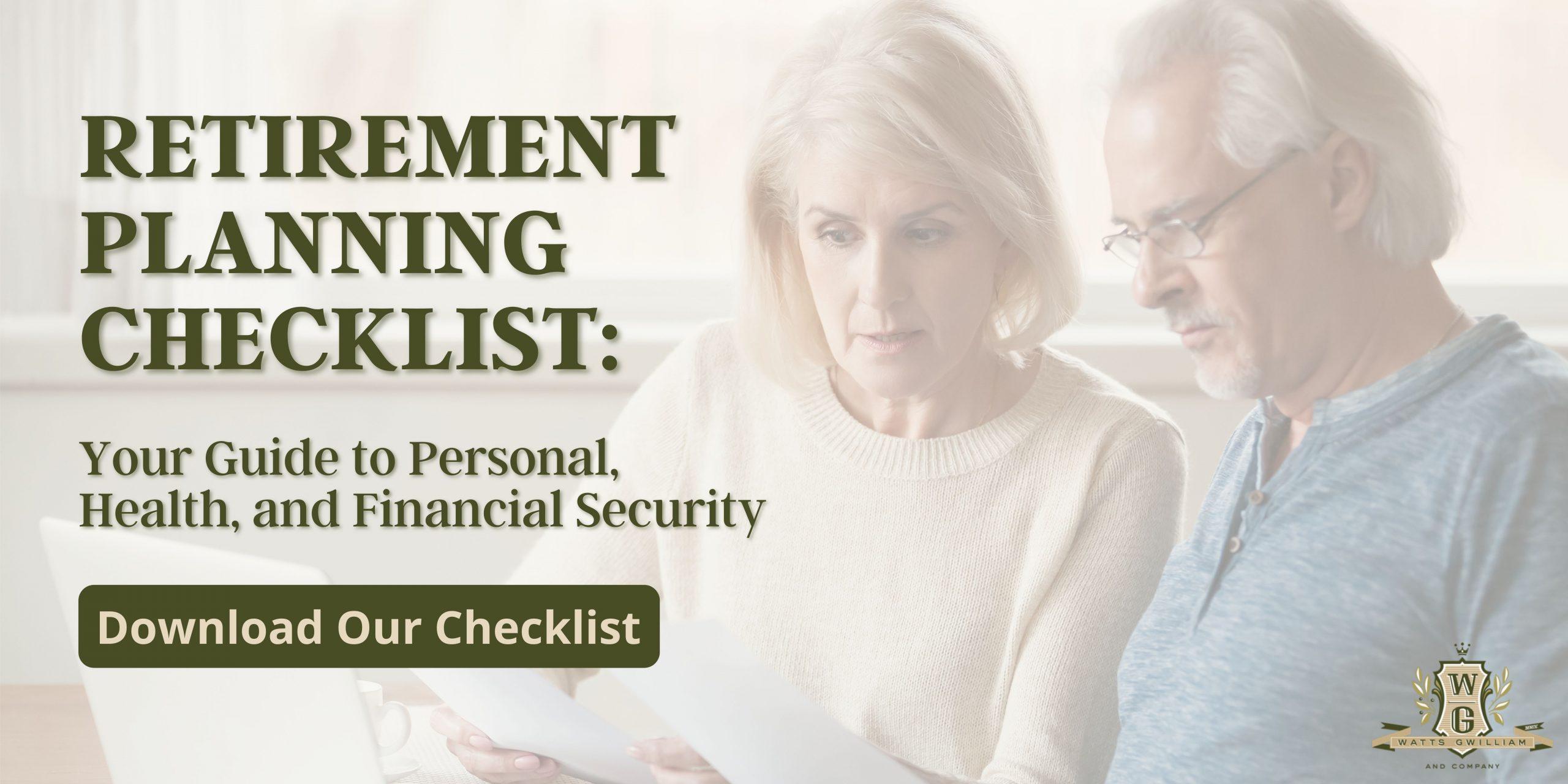 Download our Retirement Planning Checklist